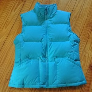 Turquoise down puffer vest